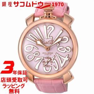 [3年保証][ガガミラノ]GAGA MILANO 腕時計 マニュアーレ48mm ピンク文字盤 カーフ革ベルト 5011.02S-PNK メンズ [並行輸入品]|ginza-sacomdo