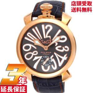 [3年保証][ガガミラノ]GAGA MILANO 腕時計 マニュアーレ グレー文字盤 手巻き 裏蓋スケルトン スイス製 501107S-GRY メンズ [並行輸入品]|ginza-sacomdo