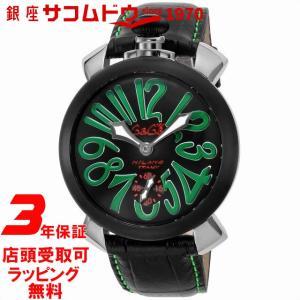 [3年保証]GAGA MILANO ガガ ミラノ MANUALE 48MM 5013.02S-BLK メンズ 腕時計 [並行輸入品]|ginza-sacomdo