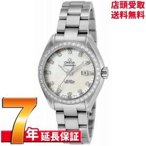 [7年保証] OMEGA オメガ 腕時計 ウォッチ シーマスター アクアテラ ホワイトパール文字盤 コーアクシャル自動巻 231.15.34.20.55.001 レディース [並行輸入品]|ginza-sacomdo