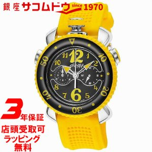[3年保証][ガガミラノ]GAGA MILANO 腕時計 CHRONO SPORTS 45MM ブラック文字盤 クロノグラフ 7010.06 メンズ [並行輸入品]|ginza-sacomdo