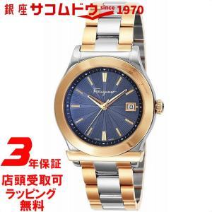 [サルヴァトーレフェラガモ]Salvatore Ferragamo 腕時計 ネイビー文字盤 FF3240015 レディース 【並行輸入品】|ginza-sacomdo