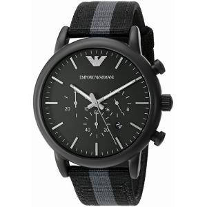エンポリオ アルマーニ ARMANI クロノ クオーツ メンズ 腕時計 AR1948 ブラック[並行輸入品] ginza-sacomdo