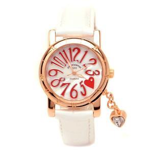 pierretalamon ピエールタラモン ジルコニアチャーム ラウンド型 レザーベルト 天然ダイヤ1石 シェル 腕時計 レディース[PT-1000L-3]|ginza-sacomdo