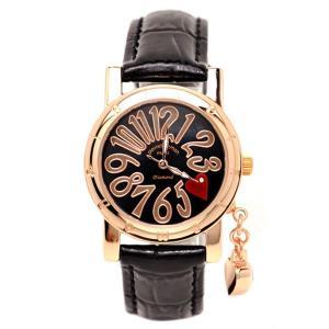 pierretalamon ピエールタラモン ジルコニアチャーム ラウンド型 レザーベルト 天然ダイヤ1石 シェル 腕時計 レディース[PT-1000L-5]|ginza-sacomdo