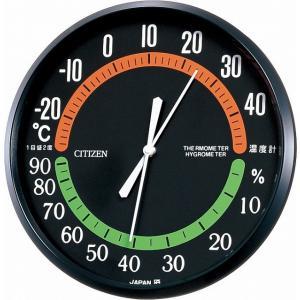 CITIZEN シチズン リズム時計工業 RHYTHM クロック 温度湿度計掛タイプ TM-42 9CZ013-002|ginza-sacomdo