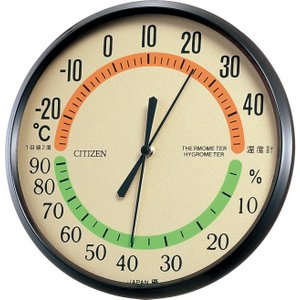 CITIZEN シチズン リズム時計工業 RHYTHM クロック 温度湿度計掛タイプ TM-42 9CZ013-006|ginza-sacomdo