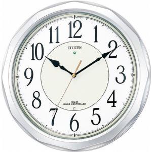 CITIZEN シチズン リズム時計工業 RHYTHM クロック 掛け時計 ネムリーナサニー 電波時計 4MY642-019|ginza-sacomdo