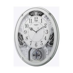 CITIZEN シチズン リズム時計工業 RHYTHM クロック Small World(リズム時計) メロディアミューズ電波時計 スモールワールドプラウド 緑メタリック色 4MN523RH05|ginza-sacomdo