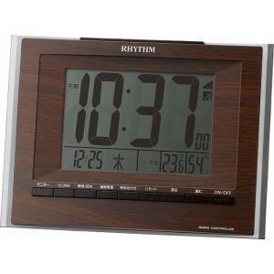 CITIZEN シチズン  RHYTHM(リズム時計) 落ち着いた木目調柄で家具とベストマッチの電波時計 フィットウェーブD172 茶木目仕上げ 8RZ172SR06|ginza-sacomdo