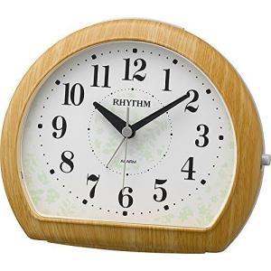 CITIZEN シチズン RHYTHM(リズム時計) 落ち着いた木目調デザインの電子音目覚し マイキーR663 薄茶木目仕上げ 8RE662SR07|ginza-sacomdo