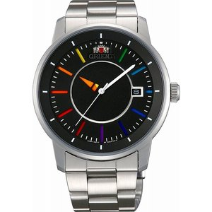 [7年保証][オリエント]ORIENT 腕時計 スタンダード STYLISH AND SMART DISK スタイリッシュ アンド スマート ディスク レインボー 自動巻き WV0761ER メンズ|ginza-sacomdo