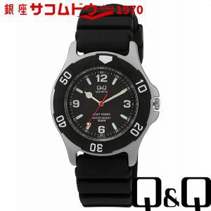 Q&Q 腕時計 ソーラーメイト ソーラー電源 10気圧防水 ブラック H950J002 メンズ [4966006041132-H950J002] [メール便 日時指定代引不可]|ginza-sacomdo