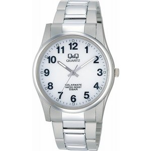 Q&Q 腕時計 ソーラーメイト ソーラー電源 5気圧防水 ホワイト H970-204 メンズ [4966006056129-H970-204] [メール便 日時指定代引不可]|ginza-sacomdo