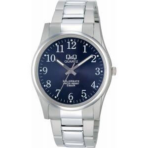 Q&Q 腕時計 ソーラーメイト ソーラー電源 5気圧防水 ブラック H970-205 メンズ [4966006056143-H970-205] [メール便 日時指定代引不可]|ginza-sacomdo