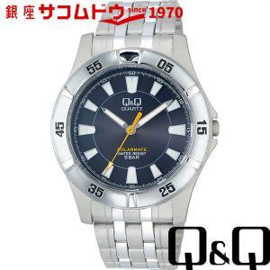 Q&Q 腕時計 ソーラーメイト ソーラー電源 5気圧防水 ブラック H968-202 メンズ [4966006056174-H968-202] [メール便 日時指定代引不可]|ginza-sacomdo
