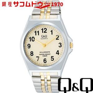 Q&Q 腕時計 ソーラーメイト ソーラー電源 5気圧防水 シャンパンゴールド H978-404 メンズ [4966006057546-H978-404] [メール便 日時指定代引不可]|ginza-sacomdo