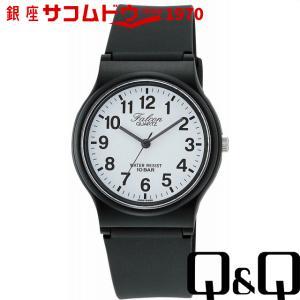 Q&Q 腕時計Falcon (フォルコン) アナログ表示 10気圧防水 ホワイト VP46-852[4966006065541-VP46-852][メール便 日時指定代引不可]|ginza-sacomdo