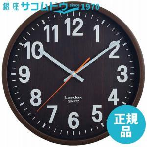 LANDEX(ランデックス) 壁掛け時計 バーレルタイム 木目調 アナログ表示 ステップ秒針 ダークブラウン YW9136DBR [4981480913614-YW9136DBR]|ginza-sacomdo