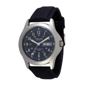 [クレファー]CREPHA ミリタリー腕時計 アナログ表示 デイデイト 10気圧防水 ブラック TEV-2275-BK メンズ|ginza-sacomdo
