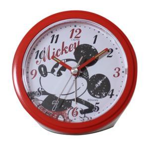 DISNEY(ディズニー) アナログ目覚まし時計 ミッキー レッド DIA-5545-1MK|ginza-sacomdo