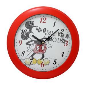CREPHA クレファー Disney ディズニー 掛け時計 ミッキー レッド DIC-5030-1MK|ginza-sacomdo