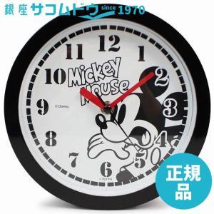 Disney 壁掛け時計 ミッキーマウス アナログ表示 置き掛け兼用 連続秒針 ブラック DIC-5032-1MK|ginza-sacomdo