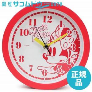 Disney 壁掛け時計 ミニーマウス アナログ表示 置き掛け兼用 連続秒針 レッド DIC-5033-7MN|ginza-sacomdo