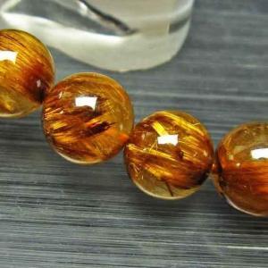 ゴールドタイチンルチル ブレスレット 11mm l24-1284|ginza-todo