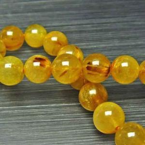ゴールドタイチンルチル ブレスレット 10mm l24-1309|ginza-todo