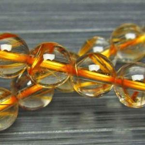 放射ゴールドタイチンルチル ブレスレット 8mm l398-17|ginza-todo