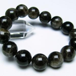 モリオン 純天然 黒水晶  ブレスレット 14mm  t112-2391 ginza-todo