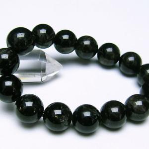 モリオン 純天然 黒水晶  ブレスレット 14mm  t112-2455 ginza-todo