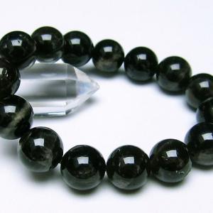 モリオン 純天然 黒水晶  ブレスレット 14mm  t112-2463 ginza-todo