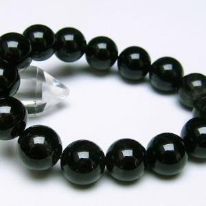 モリオン 純天然 黒水晶  ブレスレット 14mm  t112-2496 ginza-todo