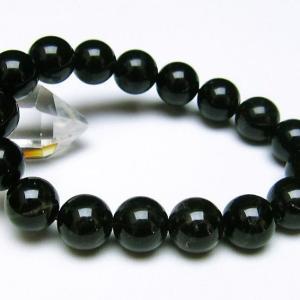 モリオン 純天然 黒水晶  ブレスレット 12mm  t112-2511 ginza-todo