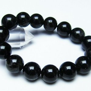 モリオン 純天然 黒水晶  ブレスレット 14mm  t112-2709 ginza-todo
