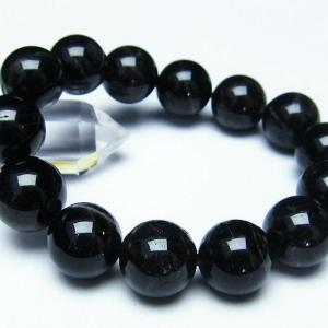 モリオン 純天然 黒水晶  ブレスレット 16mm  t112-2779 ginza-todo