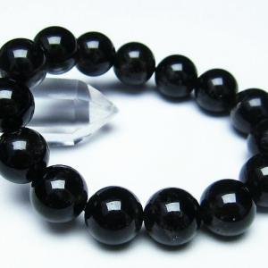 モリオン 純天然 黒水晶  ブレスレット 14mm  t112-2787 ginza-todo