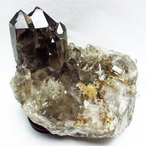ブラジル産  モリオン 純天然 黒水晶 クラスター t143-1016|ginza-todo