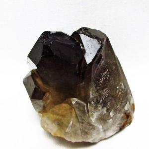 ブラジル産  モリオン 純天然 黒水晶 クラスター t143-1031|ginza-todo