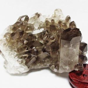 ブラジル産  モリオン 純天然 黒水晶 クラスター t143-1175|ginza-todo