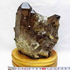 2Kg ブラジル産  モリオン 純天然 黒水晶 クラスター t143-834|ginza-todo