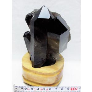 ブラジル産  モリオン 純天然 黒水晶 クラスター t143-850|ginza-todo