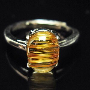 ファイナルグレードルチルクォーツ(金針ルチル水晶) 指輪  t164-4846|ginza-todo