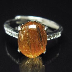 ファイナルグレードルチルクォーツ(金針ルチル水晶) 指輪  t164-4896|ginza-todo