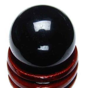 モリオン 純天然 黒水晶  丸玉 25mm t220-2915|ginza-todo
