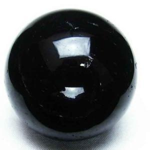 モリオン 純天然 黒水晶  丸玉 41mm t220-3481|ginza-todo