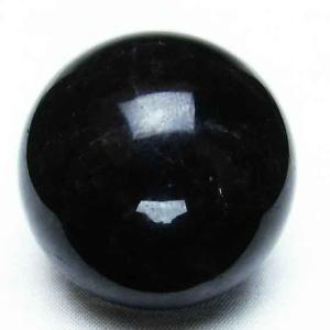 モリオン 純天然 黒水晶  丸玉 42mm t220-3490|ginza-todo