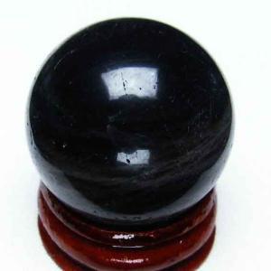 モリオン 純天然 黒水晶  丸玉 30mm t220-3519|ginza-todo